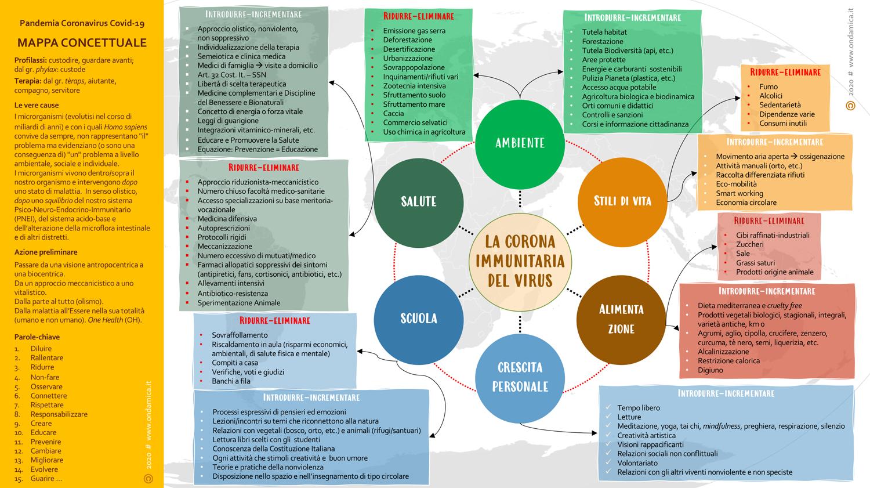 La Corona Immunitaria Del Virus Un Ipotesi Di Mappa Concettuale Generiamo Salute